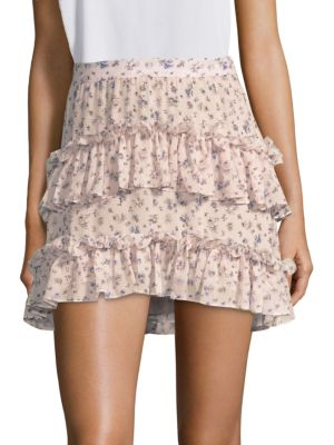 Sale alerts for  Lily Floral-Print Ruffle Mini Skirt - Covvet