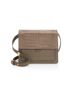 NANCY GONZALEZ Gili Leather & Croc Crossbody Bag