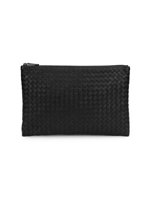 Woven Leather Pouch