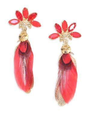 Sacha Feather Drop Earrings