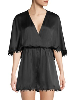 The Haddy Silk Romper by Cami Nyc