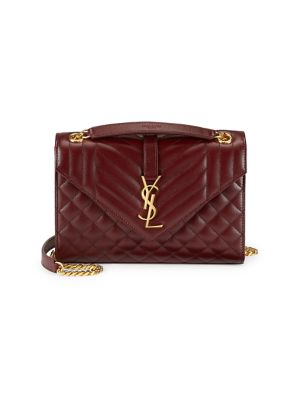 Medium Tri Quilted Envelope Bag by Saint Laurent