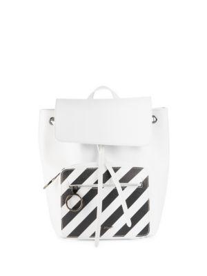 Mini Leather Stripe Backpack