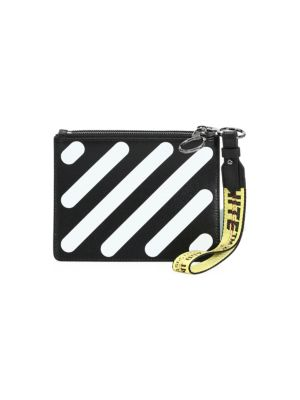 Off-white diagonals double pouch - Black hlek23L