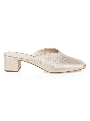 Lulu Metallic Leather Mules