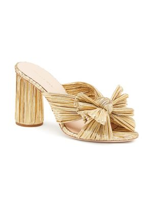 Penny Pleated Knotted High Heel Sandals