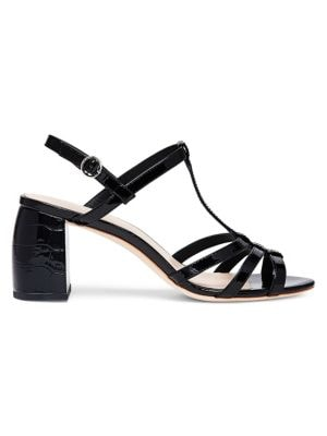Elena Strappy Leather Slingback Sandals