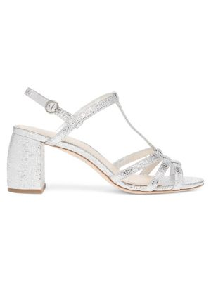 Elena Meatllic Leather Strappy Slingback Sandals