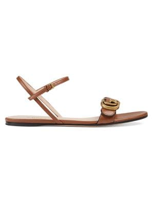 Leather Double G Sandals