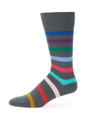 Multicolor Stripe Knitted Socks