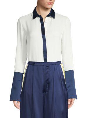 Julya Silk Colorblock Shirt