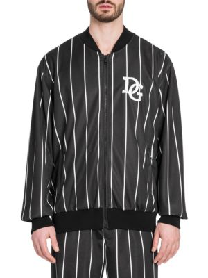 DOLCE AND GABBANA BLACK AND WHITE DG TRACK JACKET