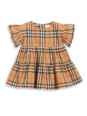 BURBERRY | Baby Girl's Alima Plaid Cotton Dress | Goxip