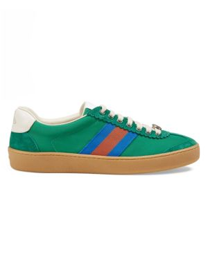Nylon & Suede Web Sneakers
