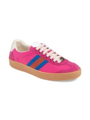 NYLON AND SUEDE WEB SNEAKER