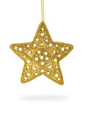 Holiday 2018 Faux Pearl Star Ornament