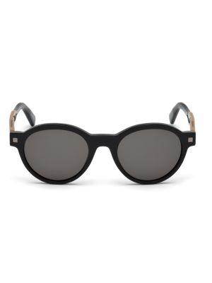 ERMENEGILDO ZEGNA | Shiny 51MM Oval Sunglasses | Goxip