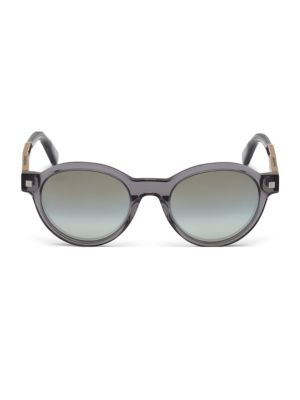 ERMENEGILDO ZEGNA | 51MM Oval Mirrored Sunglasses | Goxip