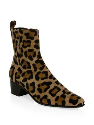 Reno Suede Leopard-Print Booties
