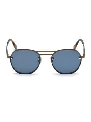 ERMENEGILDO ZEGNA | 53MM Titanium Aviator Sunglasses | Goxip