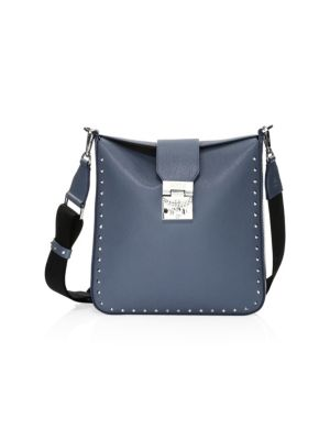 Medium Kasion Stud Leather Crossbody Bag