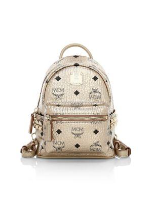 Mini Stark Coated Canvas Backpack