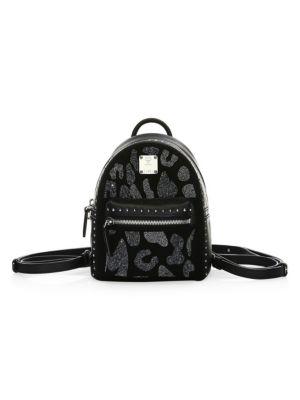 Stark Leopard Crystal Backpack