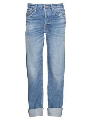 Five-Pocket Cuffed Jeans