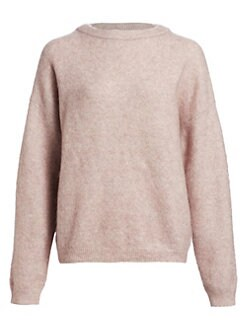 아크네 스튜디오 Acne Studios Mohair Dramatic Crewneck Sweater,Powder Pink