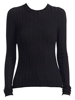 아크네 스튜디오 Acne Studios Ribbed Wool Sweater,Black
