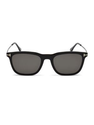 53MM Geometric Square Sunglasses