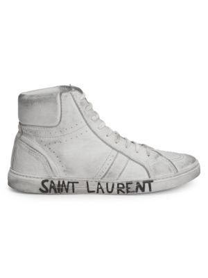 Joe Leather Mid Top Sneakers