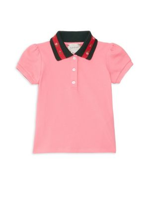 Baby Girl's Puff Sleeve Polo by Gucci
