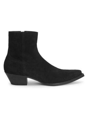 Lukas Suede Western Ankle Boots