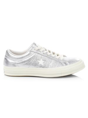 One Star Metallic Leather Sneakers