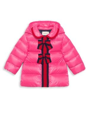 Baby Girl's Quilted Hooded Coat