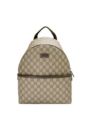 Kid's Monogram Canvas Backpack