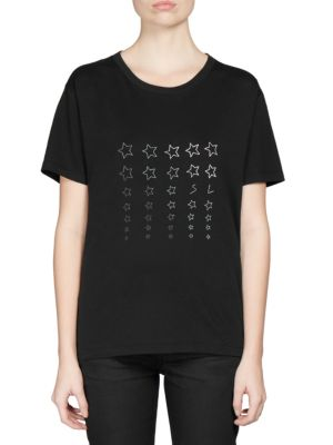 Cotton Star Print T-Shirt