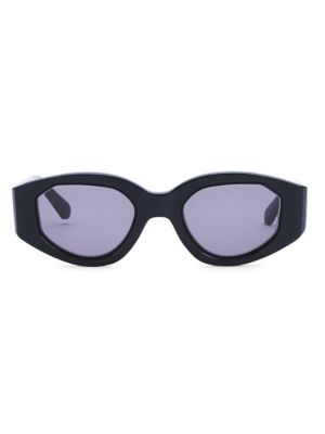 Castaway 48MM Oval Black Sunglasses