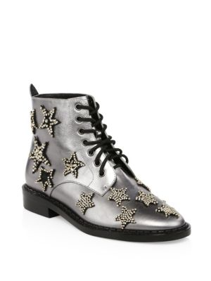Watts Crystal Star Metallic Leather Boots