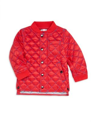 Baby Boy's & Little Boy's Quilted Bomber Jacket