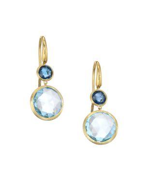 MARCO BICEGO 18K Yellow Gold & Topaz Drop Earrings