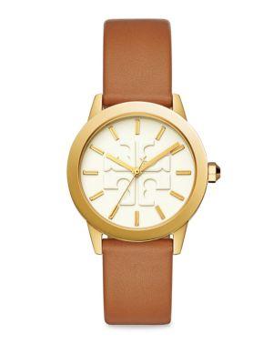Gigi Gold-Tone Leather Watch