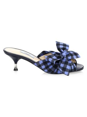 Gingham Bow Mules