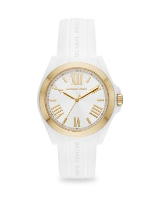 Bradshaw Goldtone Stainless Steel Silicone Watch