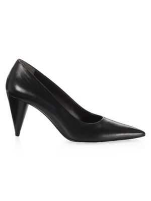 THE ROW   Cone Leather Pumps   Goxip