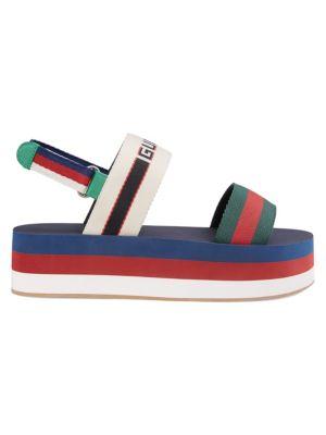Stripe Platform Sandals