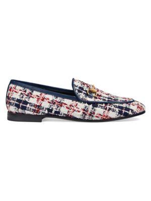 Jordaan Tweed Check Loafers