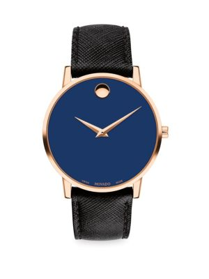Museum Classic Leather Strap Watch
