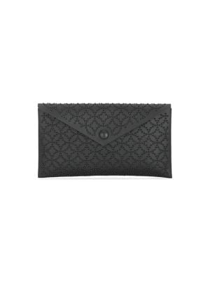 Small Louise Arabesque Studded Leather Envelope Clutch